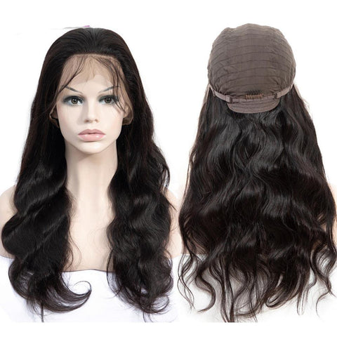 Image of body wave hairstyles lace front wig