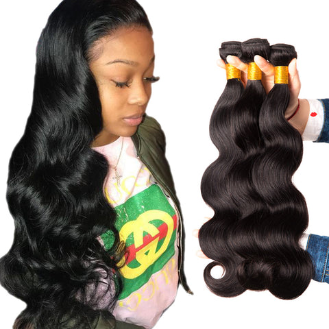 Soul Lady Malaysian Body Wave Virgin Hair 3 Bundles Human Hair Weave