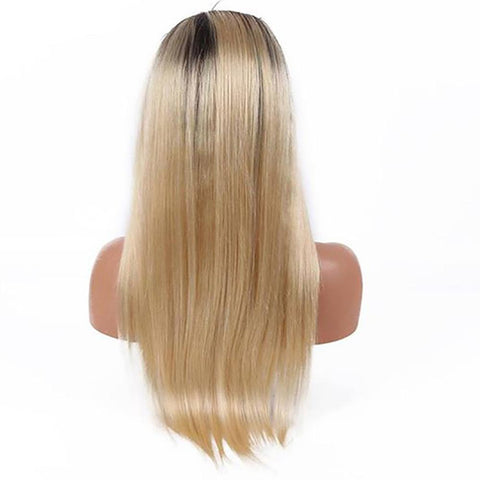 Image of Ombre blonde long straight 13x4 lace front wig virgin human hair - soulladyhair