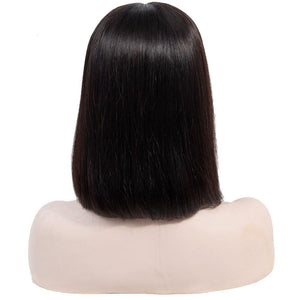 Short straight bob 13x4 lace front wig virgin human hair for sale - soulladyhair