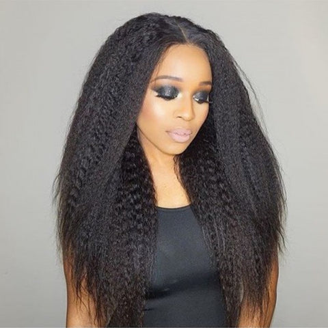 Image of Soul Lady Indian Kinky Straight 3 Bundles With Lace Closure