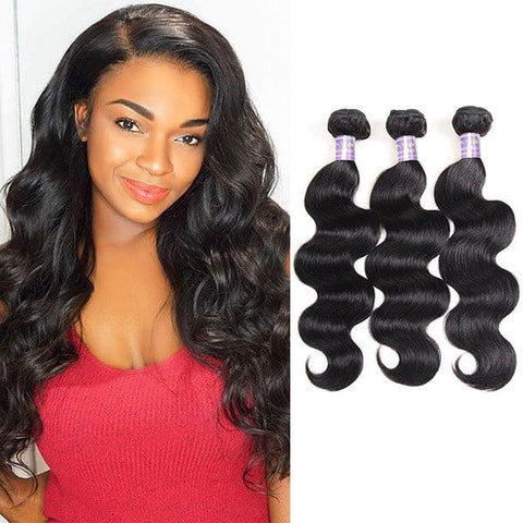 Image of Soul Lady Peruvian Body Wave Virgin Hair 3 Bundles Human Hair Weave