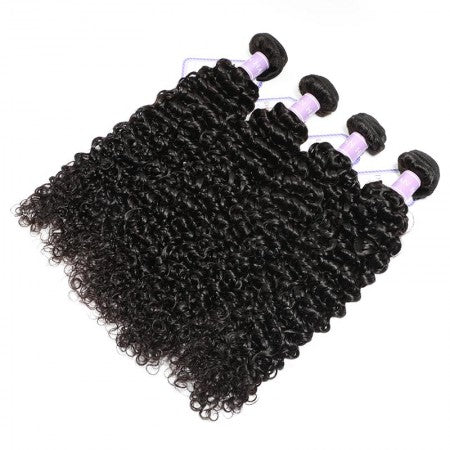Image of Soul Lady Vendor Brazilian Hair New Deep Curly Wave 4 Bundles With 4x4 Lace Closure