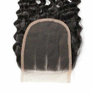 Soul Lady Vendor Brazilian Hair New Deep Curly Wave 4 Bundles With 4x4 Lace Closure