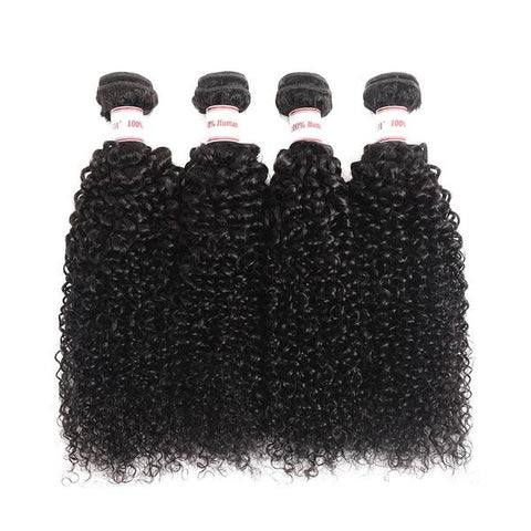 Image of Soul Lady Brazilian Straight Hair 13x4 Lace Frontal With 4 Bundles