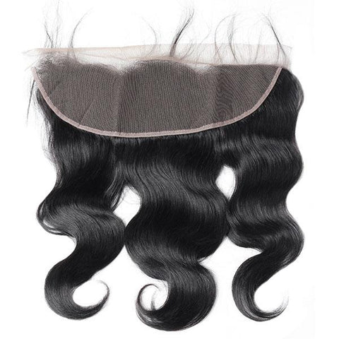 Soul Lady Peruvian Human Hair Body Wave 3 Bundles With Free Part 13x4 Lace Frontal Closure