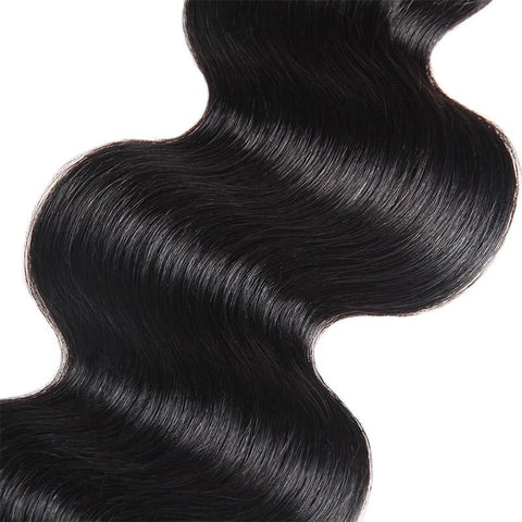 Image of Soul Lady Straight Hair Brazilian 3 Bundles With 4x4 HD Lace Closure