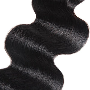 Soul Lady Straight Hair Brazilian 3 Bundles With 4x4 HD Lace Closure