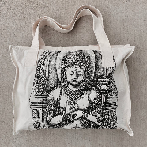 Natural Canvas Tote - Buddha