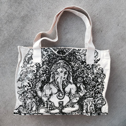Natural Canvas Tote - Ganesha