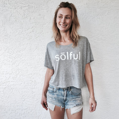 Sōlful Flowy Semi-Crop Tee