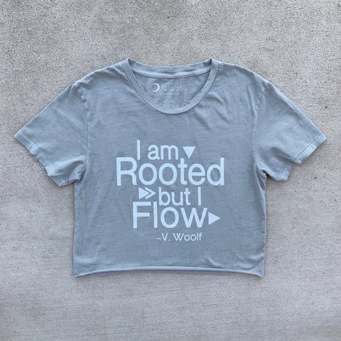 Root Down Rise Up Distressed Crop