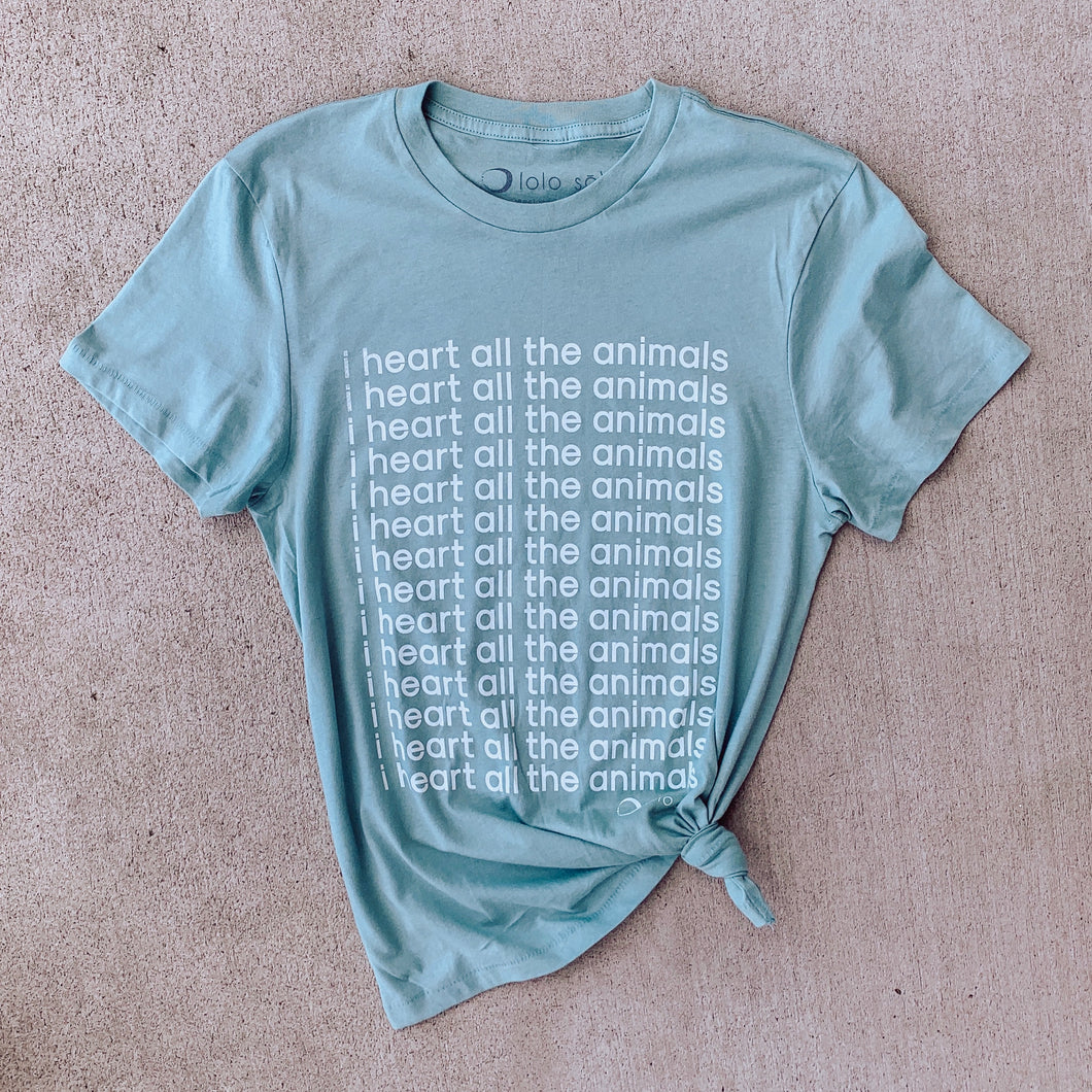 I Heart All The Animals Organic Cotton Tee