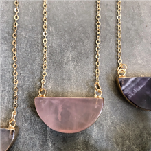 Load image into Gallery viewer, Natural Gemstone Moon Necklace