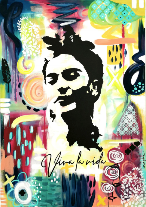 Frida # 10 Collage Serie Viva la Vida