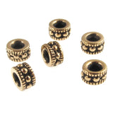 Gold Rococo 4mm Beads, TierraCast Pewter Dotted Spacers (25 Pieces)