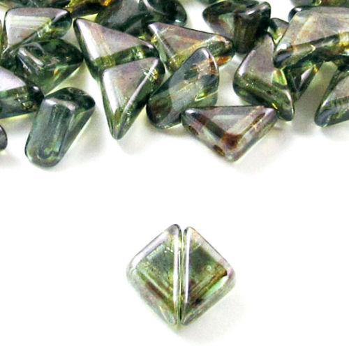 Lumi Green Tango Triangle Beads