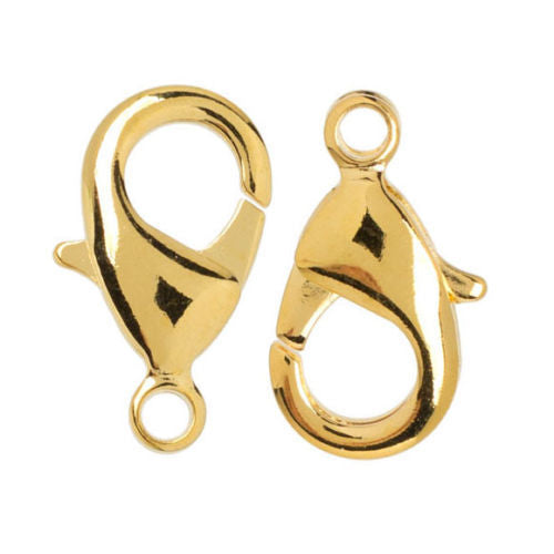 Gold Elegance 14K Plated - Lobster Claw Clasps 8 x 15mm (2Pcs)