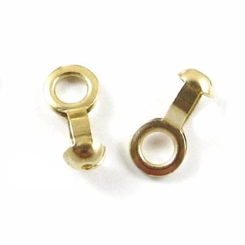 Ball Chain #6 Lamp/Fan Pull Loop Connectors-BRASS (50 pieces)