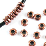 Copper 5mm Nugget Spacer Beads + 2mm Hole for Leather, TierraCast (25 Pieces)