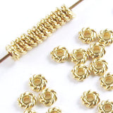 Bright Gold 4mm Twist Spacer Beads, TierraCast Lead-Free Pewter (50 Pieces)