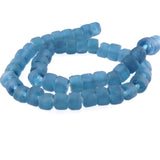 Slate Blue Recycled Glass Beads