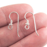 Sterling Silver Ear Wires with Heishi & Coil Accent, TierraCast (10 Pieces)