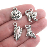Silver Halloween Charm Set in hand