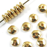 Bright Gold 7mm Nugget Spacer Beads