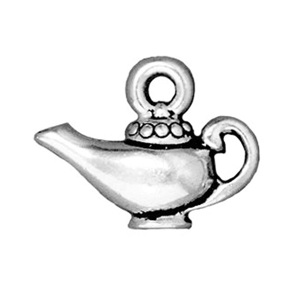 silver magic lamp charms