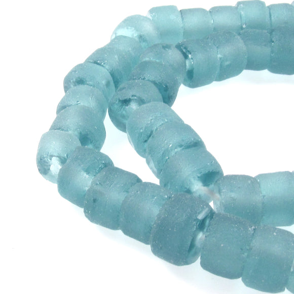 Aqua Blue Green Recycled Glass Beads