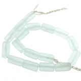 Seafoam Green Recycled Glass Tube Beads