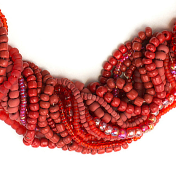 Red Glass Seed and E Bead Set | Jewelry Basics Mix 90g