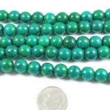 "Round Azurite Chrysocolla Gemstone Beads 15"" Strand 8mm (49 Pcs)"