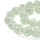 Clear 10mm Round Glass Crackle Beads (30 Pieces)