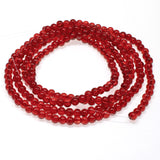 Red 4mm Round Glass Crackle Beads, Holiday Christmas Beads 200/Pkg