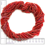 Red Glass Seed Bead Mix