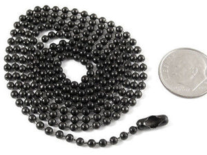 "30"" Gunmetal Black Stainless Steel Ball Chain Necklace, TierraCast"