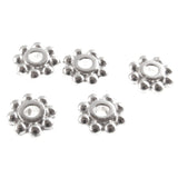 Bright Silver 6mm Daisy Spacer Beads