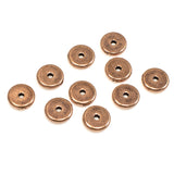 8mm Copper Spacer Beads, TierraCast Heishi Disk, 1.5mm Hole 10/Pkg