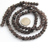 Brown 6mm Round Glass Crackle Beads, 100/Pkg