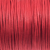 Red 1mm Waxed Cotton Cord