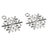 Bright Silver Snowflake Charms, Christmas Holiday Metal Charm 20/Pkg