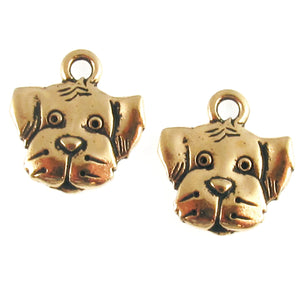 Gold Dog Charms