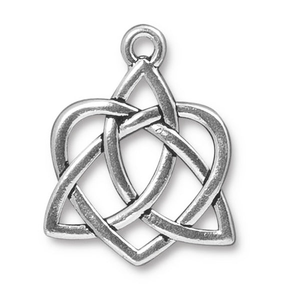 Silver Large Celtic Open Heart Pendant