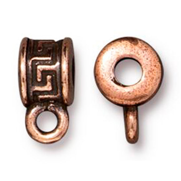 Copper Greek Key Bail