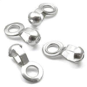 Ball Chain #6 Lamp/Fan Pull Loop Connectors-Stainless Steel (50 pieces)