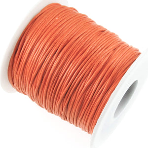 Orange 1mm Waxed Cotton Cord