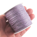 Lavender 1mm Waxed Cotton Cord