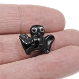 Bat Lampwork Glass Beads, Handmade Halloween Animal Bead 4/Pkg